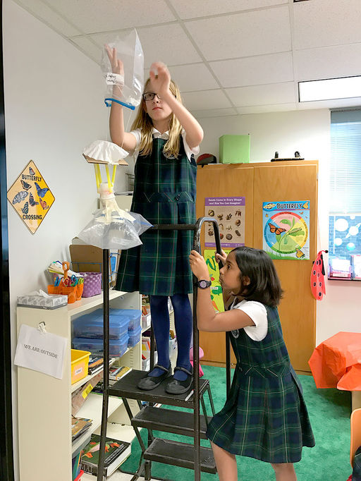 3 ... 2 ...1 ... Blastoff: Fourth grade students engineer and test robo-egg landers