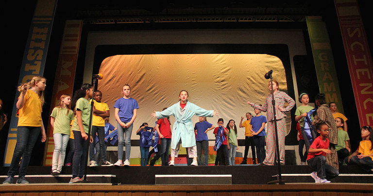 Fourth grade girls come together with collaboration and spirit to bring down the house in ''Schoolhouse Rock Live Jr.''