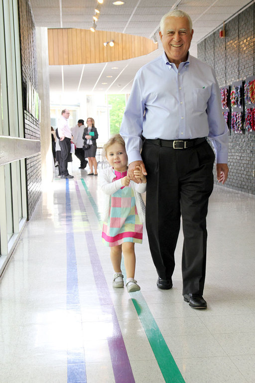 With pride and confidence, our youngest students welcome grandparents and special guests to campus