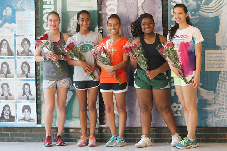 Members of the Class of 2017 honored at Upper School Track and Field Senior Day