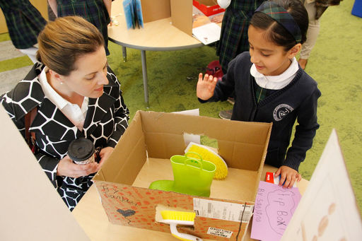 STEM Fair reinforces confidence in scientific process and presentation skills for first grade girls