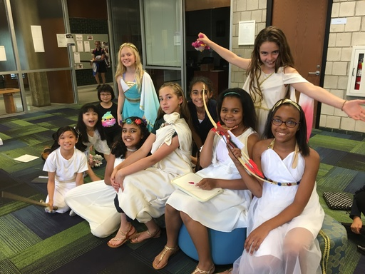 Greek gods and goddesses sighted in the Middle School