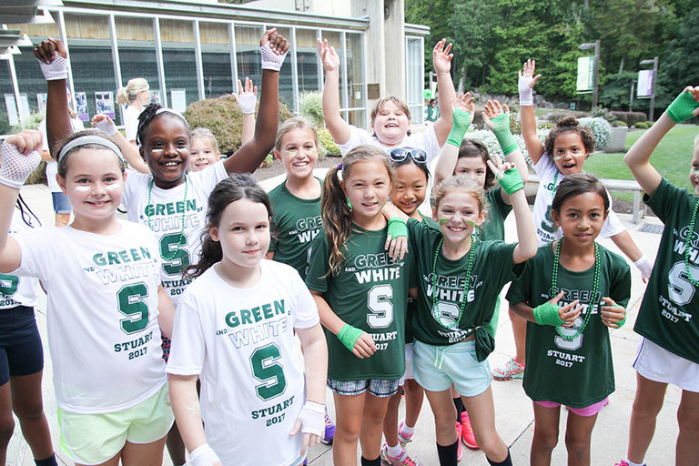 Students and faculty compete in annual Green and White Day games!