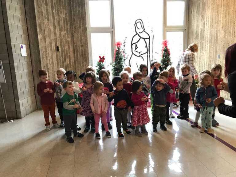 stuarts youngest bring joy to the front hall with spanish christmas carols