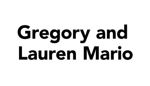 Gregory and Lauren Mario