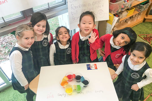STEM at Stuart: In study of light and shadows, JK girls make amazing discovery about colors