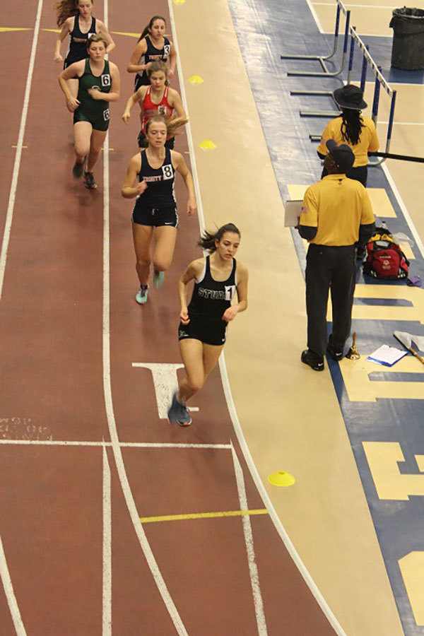 Indoor track team finishes season with many personal bests at Peddie Invitational