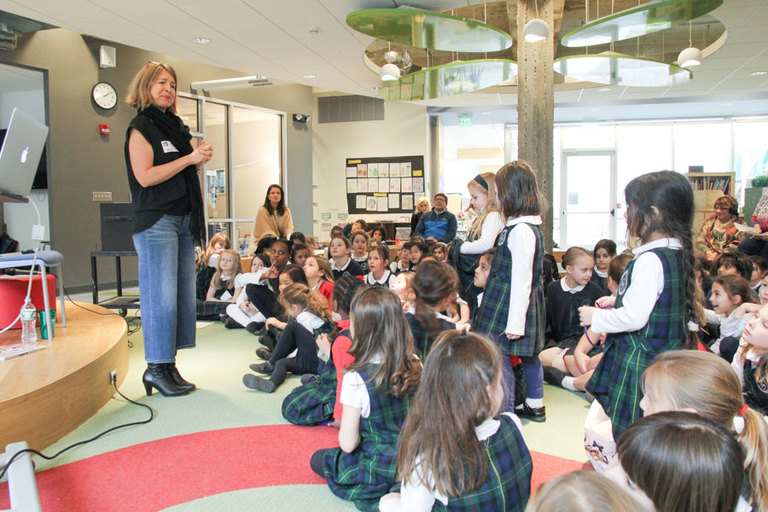 Beloved author Doreen Cronin brings inspiration and a love of writing to the Lower School and EC