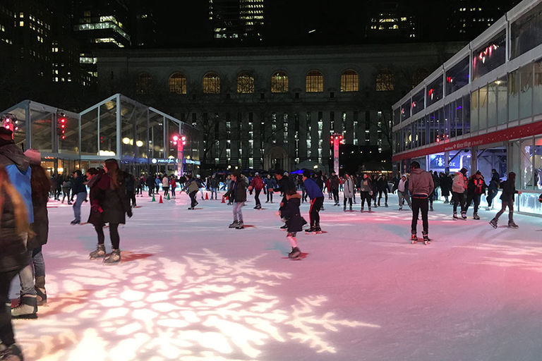 Bryant Park in NYC provides perfect venue for Upper School outing