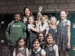 Stuart's Grade 3/4 CYO Basketball team finishes season in first place!