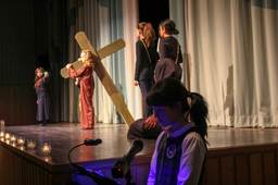 Fourth graders deliver a moving Stations of the Cross prayer service