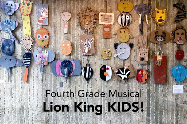 Fourth grade presents Lion King KIDS on May 4 and 5!