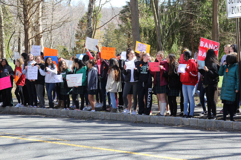 Middle and Upper School students demonstrate the power of their voices during the National School Walkout