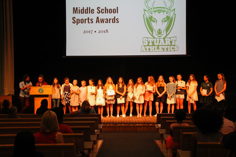 Middle School athletes honored at sports awards
