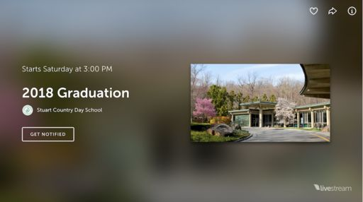 Watch Baccalaureate and Graduation LIVE!