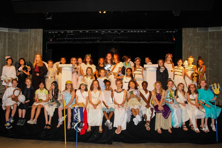 Mount Olympus is brought to life for fifth grade Greek Day