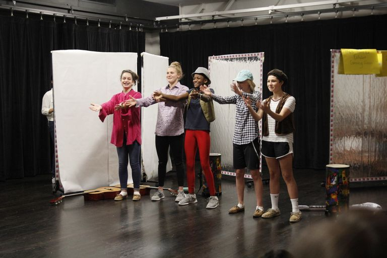 Seventh graders step into character to perform original plays