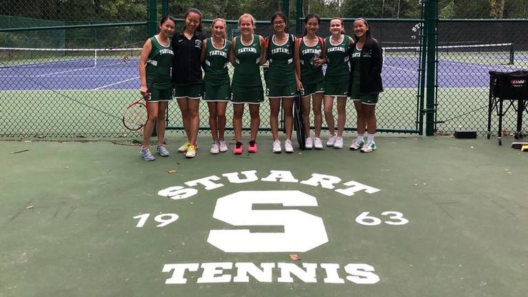 Stuart tennis serves up a victory in season opener against George School