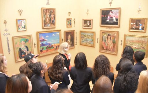 Upper School museum trips explore the integration of art across the curriculum