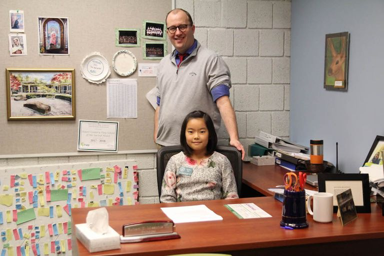 Alina Xu, Head of Middle School for the day!