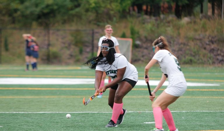 Bey-Shana Clark scores two goals to help varsity field hockey advance in Prep B Tournament