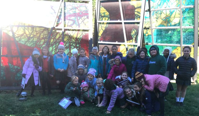 Fourth graders visit Princeton University Art Museum and study architecture with campus tour