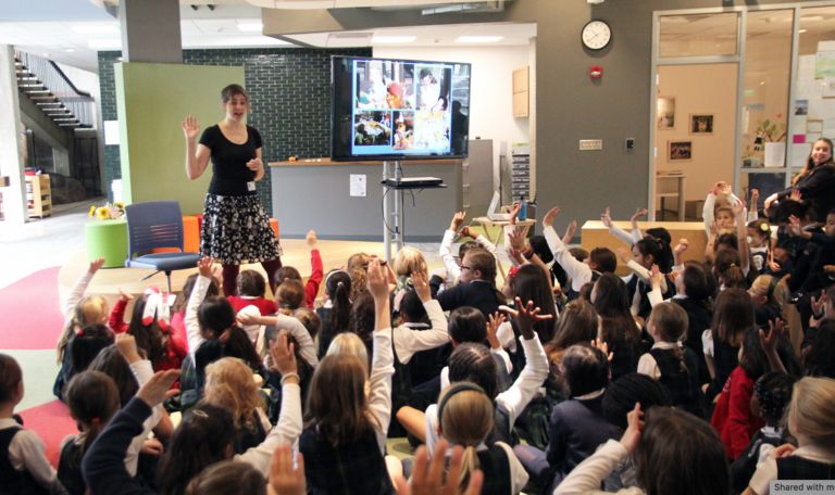Princeton author Anica Rissi inspires Lower School students and faculty to tell their own stories
