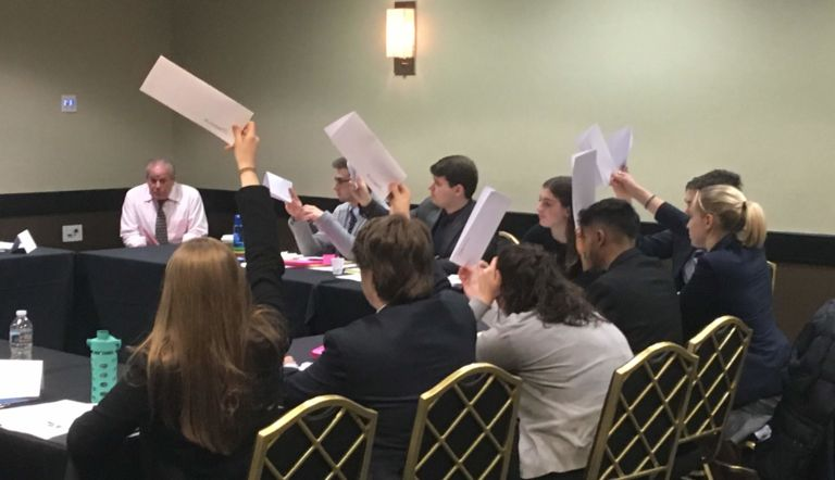 Model UN Club competes at Rutgers: Senior Rebekah Ten Hagen earns Best Delegate