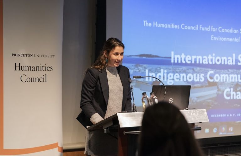 Fifteen seniors attend Princeton symposium on indigenous communities; Charlotte Driver presents land acknowledgement