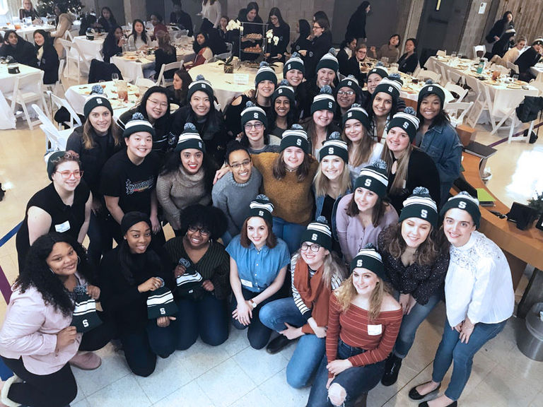 Over 30 recent Stuart alumnae reunite for Little Christmas