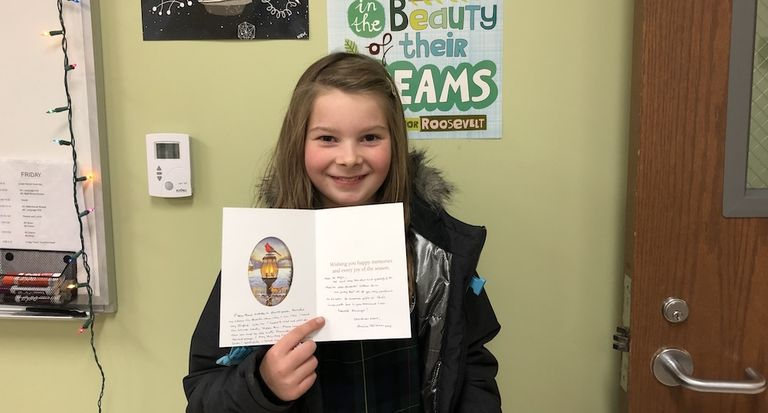 Fourth graders receive response after sending 52 letters of gratitude to retired RSCJ in California