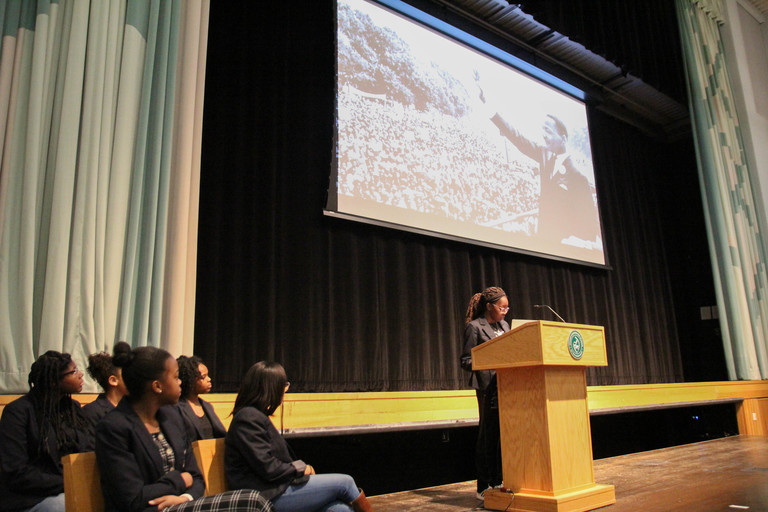 VIDEO: Stuart girls connect Dr. King's teachings to the Five Goals