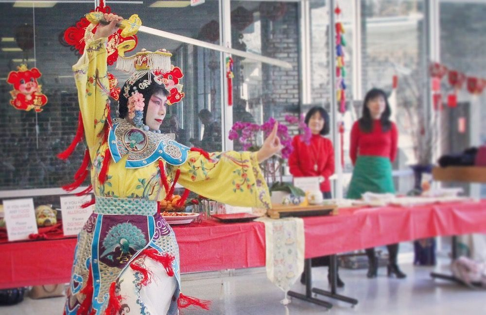 The Year of the Pig is celebrated with Chinese food, dance and music