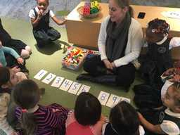 EC Owls join junior kindergarten Magnolias for some counting forward math games