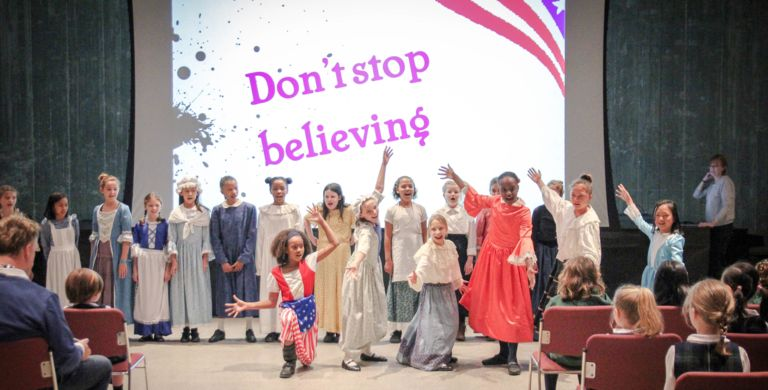 Remember the ladies! Fourth graders honor women from the Revolutionary War period with performances and Colonial activities