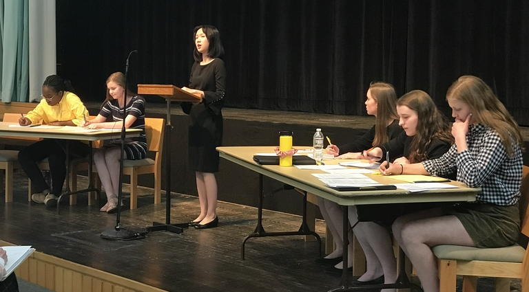 VIDEO: Eighth graders demonstrate confidence and leadership during debates