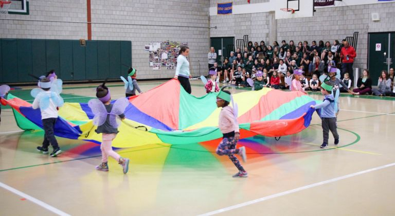 Oh, the place you will go! The EC boys and girls show off their skills during annual Physical Education Show