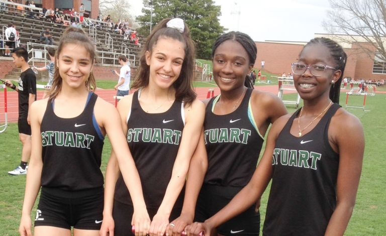 Stuart track sets a school record and many personal bests at Poreda Invitational