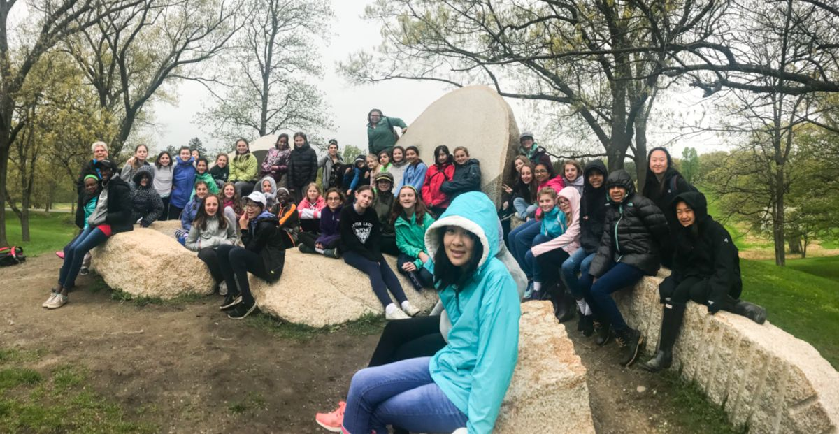 Sixth graders explore the intersection of nature, agriculture, and art at Sprout Creek Farm