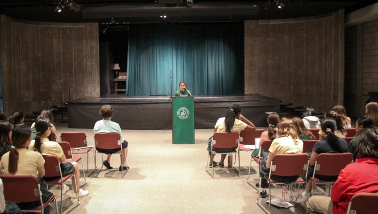 Eighth graders present TED Talks to address social justice issues