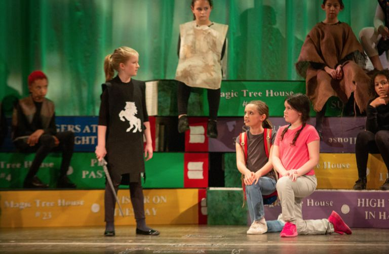 "Fourth graders wow audiences with ""Magic Tree House"""