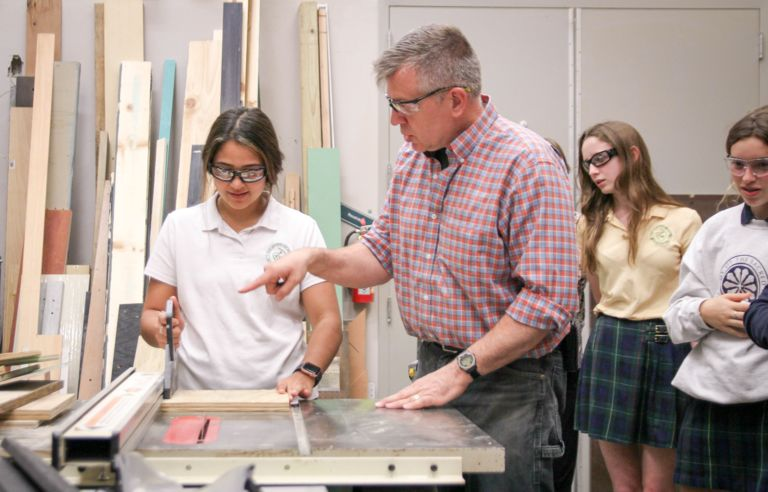 Middle and Upper School students enjoy a day of creative workshops for Afternoon of Make