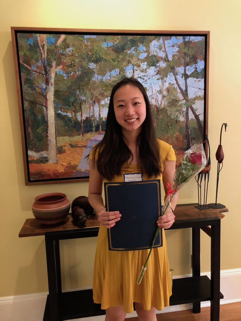 Adrienne Wang '19 awarded college scholarship from Women's College Club of Princeton