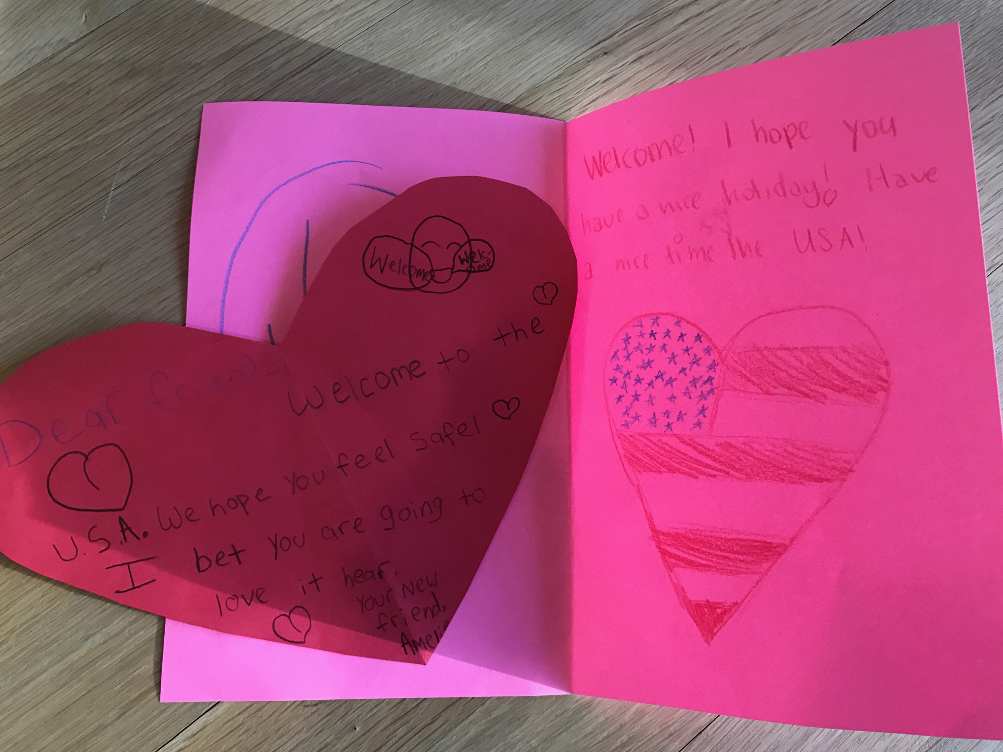 Stuart girls welcome children with valentines day cards stuart girls made inspiring cards and hearts with encouraging and welcoming words thank you to stuart parent carlyne beverly for delivering our valentines m4hsunfo